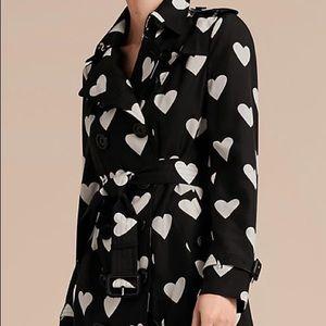 Rare Silk Burberry Heart coat